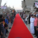 Το κοκκινο χαλι στη Λωριδα της Γαζας